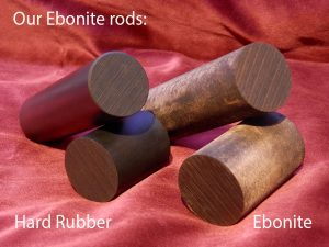 ebonite hard rubber rods